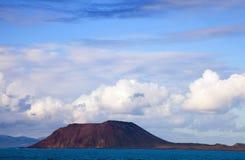 Piccola isola Isla de Lobos fotografie stock libere da diritti