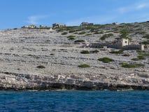 Piccola isola nel punto di film di Kornati Croazia Winnetou Fotografia Stock