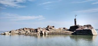Piccola isola rocciosa Immagine Stock
