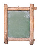 Piccola lavagna con il blocco per grafici di legno Fotografia Stock