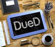 Piccola lavagna con il concetto di DueD 3d Fotografie Stock