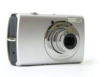 Piccola macchina fotografica della foto di Digitahi del metallo fotografie stock libere da diritti