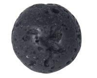 Piccola macro naturale della perla della lava isolata su fondo bianco Immagini Stock Libere da Diritti