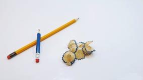 Piccola matita nera con i trucioli Immagine Stock Libera da Diritti