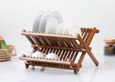 Piccola mensola di legno Immagini Stock Libere da Diritti