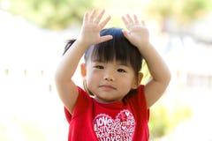 Piccola neonata cinese asiatica Fotografia Stock