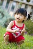 Piccola neonata cinese asiatica Fotografia Stock Libera da Diritti