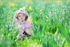Piccola neonata dolce Fotografia Stock