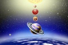 Piccola parata annuale dei pianeti royalty illustrazione gratis