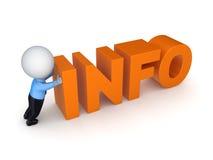 piccola persona 3d e parola Info. Fotografia Stock Libera da Diritti