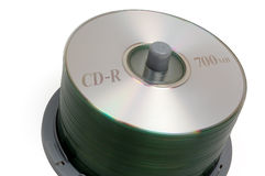 Piccola pila CD (con il percorso di residuo della potatura meccanica) immagine stock libera da diritti