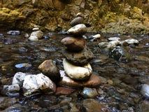 Piccola pila della roccia Fotografia Stock