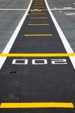 Piccola pista sulla piattaforma dei portaerei Fotografia Stock Libera da Diritti