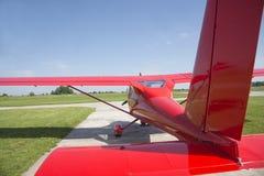 Piccola preparazione piana decollare fotografie stock libere da diritti