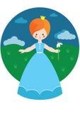Piccola principessa con snowdrop Fotografie Stock Libere da Diritti