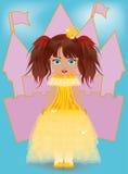 Piccola principessa sveglia Fotografia Stock