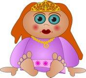 Piccola principessa sveglia illustrazione vettoriale