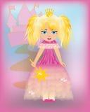 Piccola principessa in un vestito dentellare Fotografie Stock Libere da Diritti
