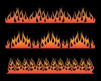 Piccola progettazione dell'illustrazione della fiamma Immagini Stock