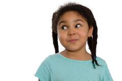 Piccola ragazza afroamericana carismatica Fotografia Stock Libera da Diritti
