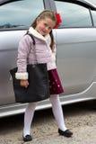 Piccola ragazza alla moda Fotografie Stock