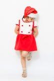 Piccola ragazza asiatica su natale Fotografia Stock Libera da Diritti