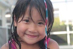 Piccola ragazza asiatica sveglia Immagine Stock Libera da Diritti