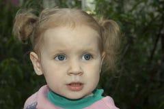 Piccola ragazza bionda Fotografia Stock