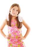 Piccola ragazza bionda con gli archi Fotografie Stock