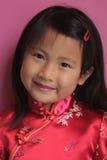 Piccola ragazza cinese con il vestito rosso Immagini Stock Libere da Diritti