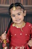 Piccola ragazza del punjabi Fotografie Stock