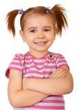 Piccola ragazza divertente Fotografia Stock Libera da Diritti