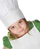 Piccola ragazza principale del cuoco Fotografie Stock Libere da Diritti
