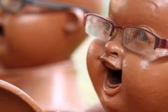 Piccola rana pescatrice buddista Fotografie Stock Libere da Diritti