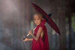 Piccola rana pescatrice buddista Fotografia Stock Libera da Diritti