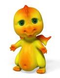 Piccola rappresentazione divertente del carattere 3d del drago illustrazione di stock