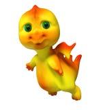 Piccola rappresentazione divertente del carattere 3d del drago di volo Immagini Stock