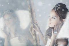 Piccola regina della neve fotografie stock libere da diritti