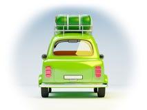 Piccola retro parte posteriore dell'automobile di viaggio Fotografia Stock