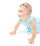 Piccola risata adorabile della neonata Immagini Stock Libere da Diritti