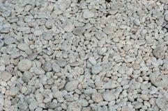 Piccola roccia bianca naturalmente lucidata Fotografia Stock