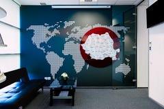 Piccola sala del consiglio moderna dell'ufficio Fotografia Stock