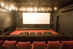 Piccola sala vuota del cinematografo Fotografie Stock