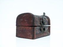 Piccola scatola di cuoio Immagini Stock Libere da Diritti