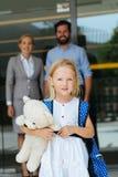 Piccola scolara adorabile Fotografie Stock