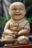 Piccola scultura della rana pescatrice buddista Fotografie Stock Libere da Diritti