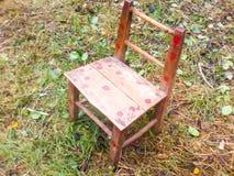Piccola sedia fatta a mano Fotografie Stock Libere da Diritti