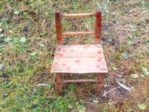 Piccola sedia fatta a mano Fotografia Stock