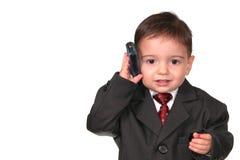 Piccola serie dell'uomo: Chiamata in linea uno! immagini stock