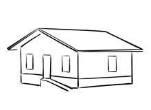 Piccola siluetta di casa Illustrazione Vettoriale